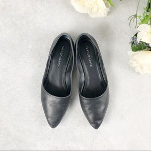 Franco Sarto black pointed flats size 9